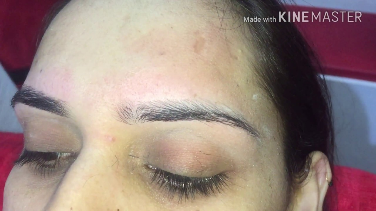 How To Make Good Shape Eyebrow Threading Sakhi Beauty Salon Youtube