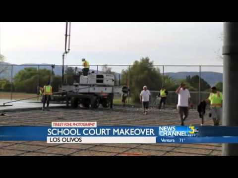 Los Olivos Elementary School Gets New Tennis Court