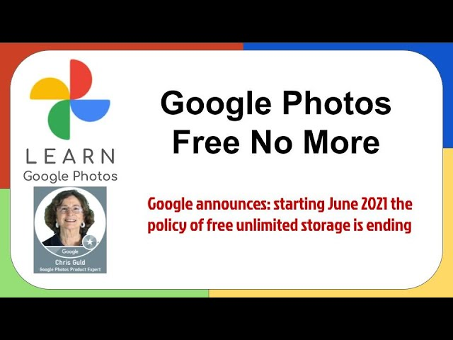 Google Photos Changes-No more Free Unlimited Storage?