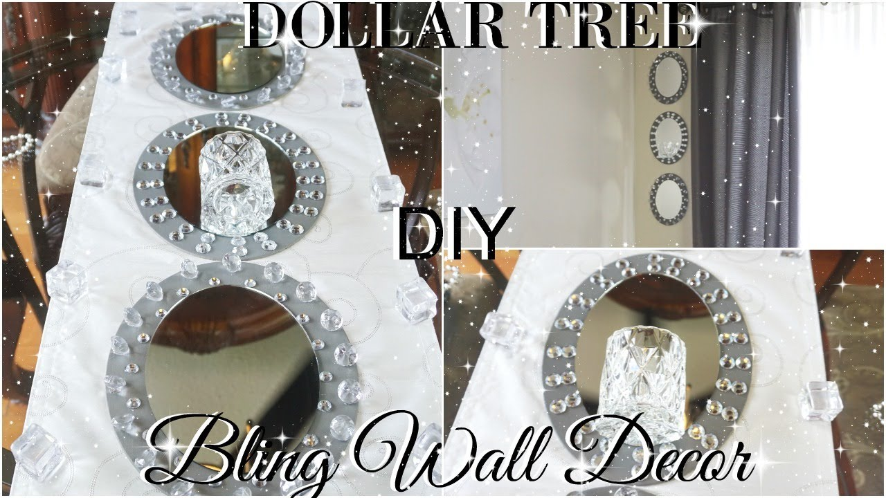 Wall Decor Stores Diy Dollar Tree Glam Mirror Wall Sconce  Dollar Store Bling Wall