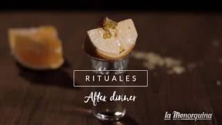 La Menorquina Ritual: Orange ice cream