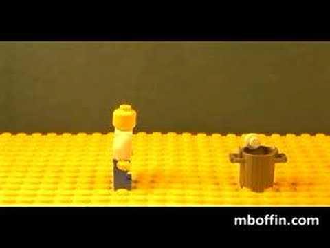 LEGO Paper Toss Test