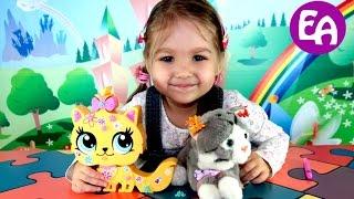 Кошечка мяу с украшениями Литлест ЛПС игрушка распаковка Littlest Pet Shop kittie toy with stikers(Посмотрите распаковку и обзор Littlest Pet Shop https://youtu.be/q_Ti0cke3Do Распаковка игрушечной кошечки Littlest Pet Shop, которую..., 2016-04-19T05:30:55.000Z)