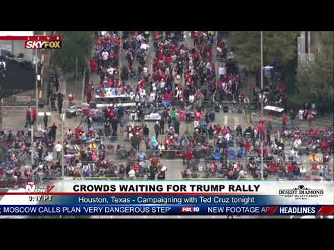 WATCH: Massive Crowds For President Trump Ted Cruz Rally HOURS Before Event In Houston