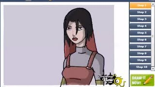 How to draw Circe from Generator Rex