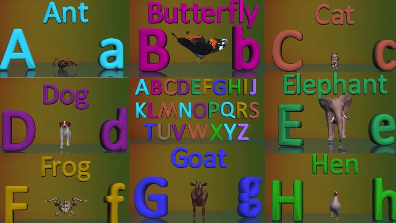 Download A To Z Animals For Kids  Animals With Alp hd