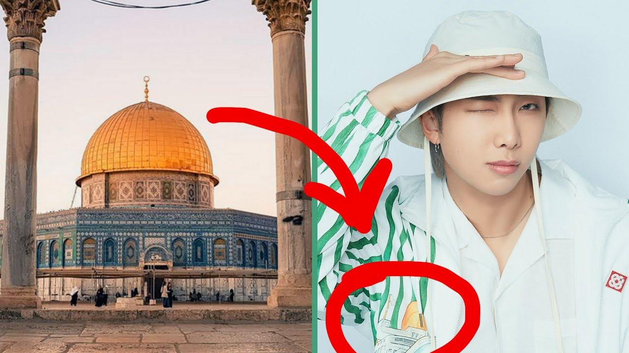 نامجون يدعم القضية الفلسطينية💜Namjoon with Palestine #shorts