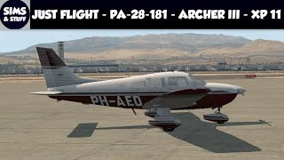 X-Plane 11 - Just Flight - PA-28-181 - Archer III - Review ( + Landing Fail )