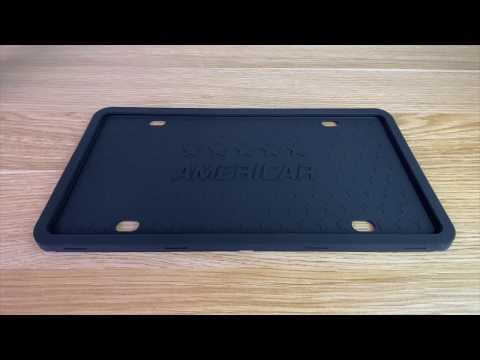 Unboxing Americar License Plate Frame - Silicone License Plate Holder