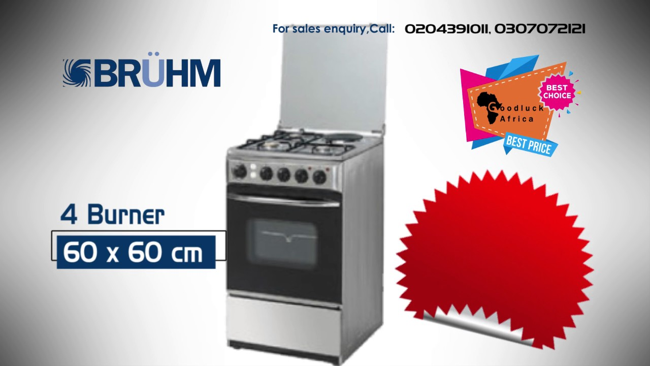 Bruhm High Quality Gas Cookers With Oven And Grill Made