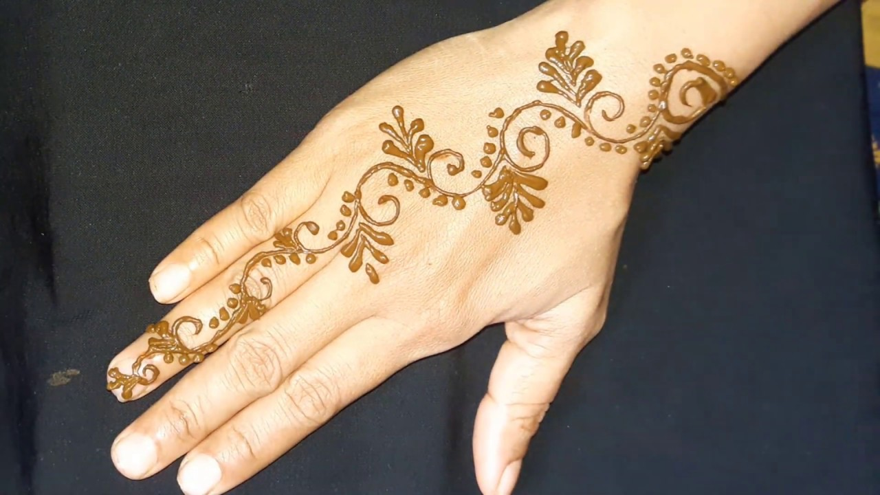 Simple Mehndi Designs For Hands Backside Quick Easy Mehndi Designs For Kids