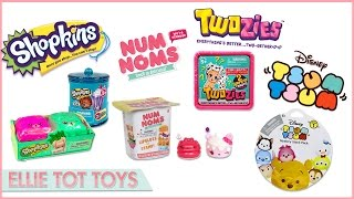 Twozies, Shopkins EXCLUSIVE,  TSUM TSUMS and Num Noms!! Moose toys and Disney Unboxing fun!