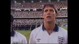 WM 1990 Halbfinale Deutschland - England , Hymnen