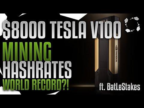 NVidia NVLink Tesla V100 16GB HBM2 Crypto Mining Benchmarks ft BatLeStakes