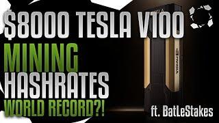 NVidia NVLink Tesla V100 16GB HBM2 Crypto Mining Benchmarks, WORLD RECORD!