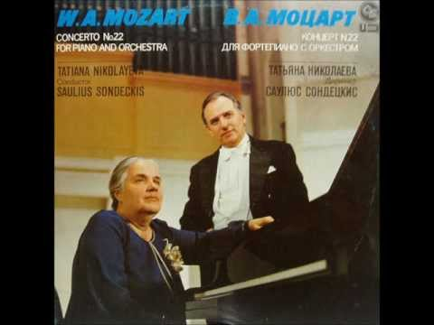 Mozart: Piano Concerto no. 22 (Tatiana Nikolayeva - Saulius Sondeckis - 1983)