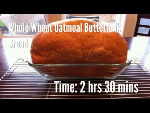 Whole Wheat Oatmeal Buttermilk Bread Recipe