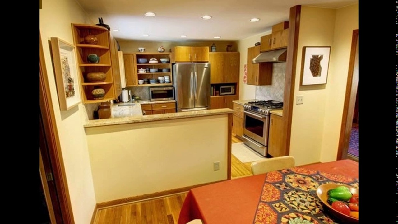 Kitchen With Half Wall To Dining Room