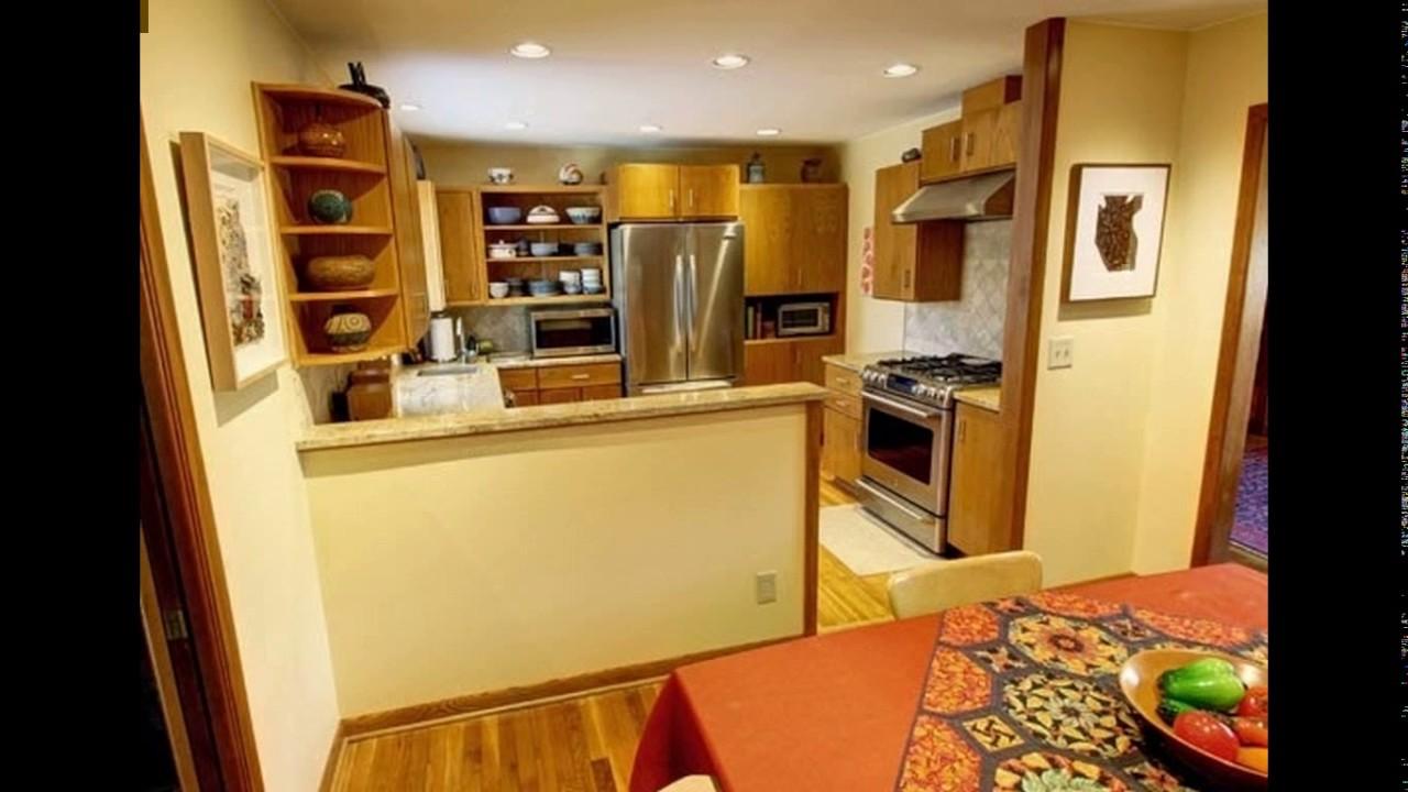 Half wall designs kitchen