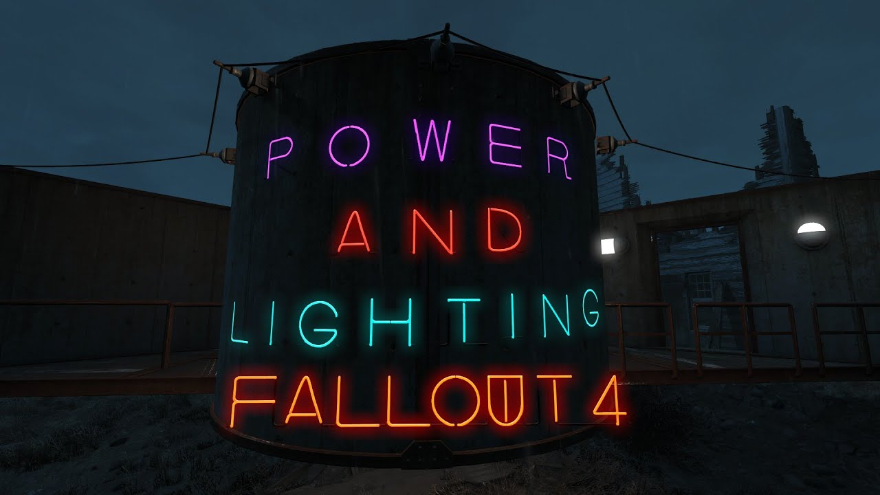 New Power and Lights in Fallout 4 s Wasteland Workshop DLC - YouTube