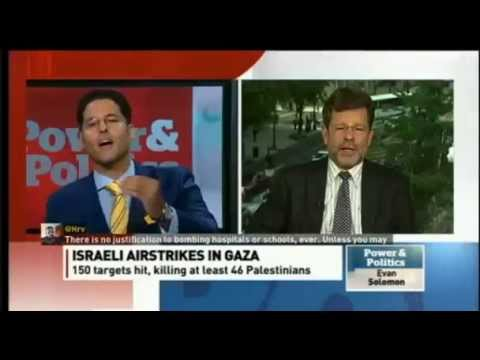 Mohamed El Rashidy and Cliff May re: Israeli Airstrikes in Gaza CBC Power and Politics