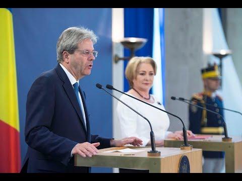 Bucarest, dichiarazioni congiunte Gentiloni - Dăncilă