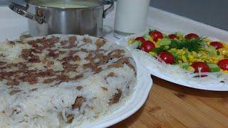Kolay Bir Akşam Yemeği Menüsü Daha/Patates Çorbası/Etli Pilav/Yeşillik Salatası/Seval Mutfakta