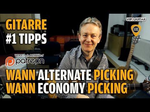 Wann Alternate und wann Economy Picking - Gitarren Hacks #1 Profitipp