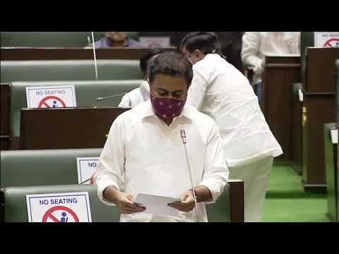 MA&UD Minister KTR spoke in Legislative Assembly on Urban infrastructure in Telangana