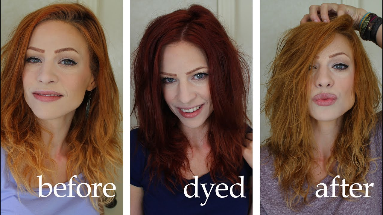 Gone Red Hair Dye Wrong