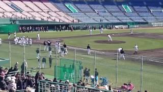 2015 宮崎キャンプ 巨人 大竹寛 ケースノック中、ホームへの送球がワン...