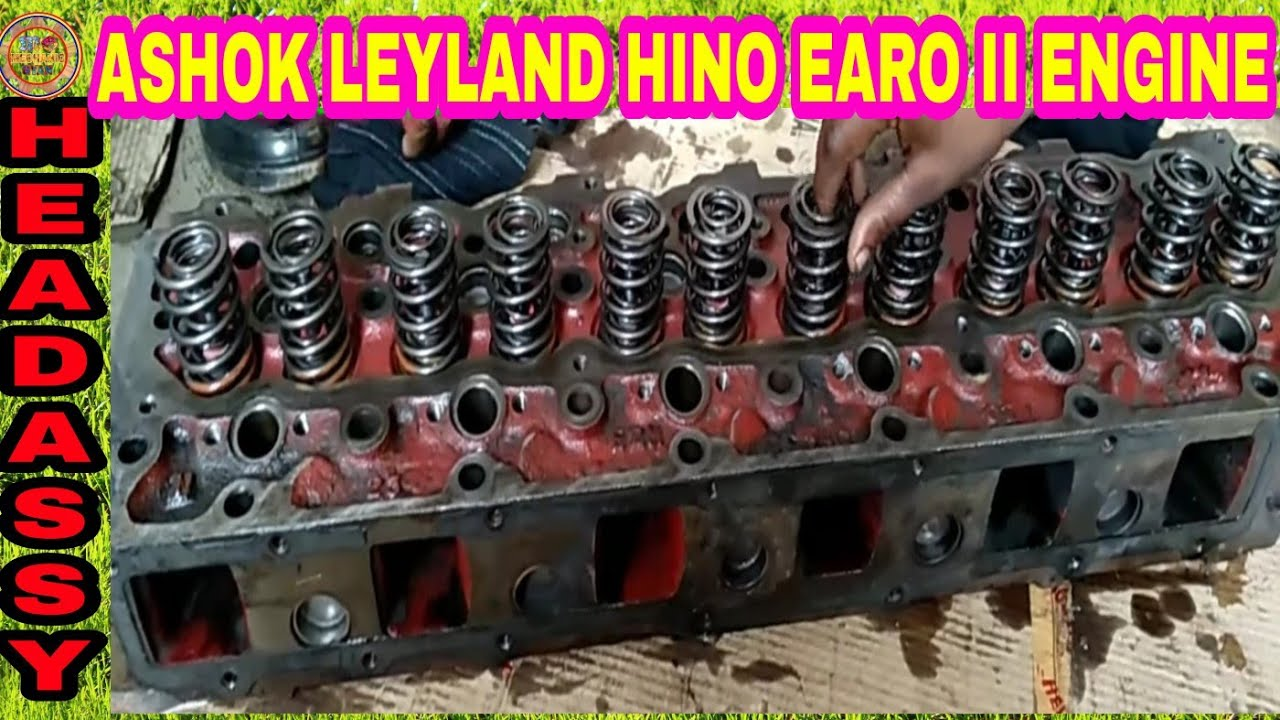 How to repaire engine head hino BS II step by step ashok leyland, By  Mechanic Gyan,