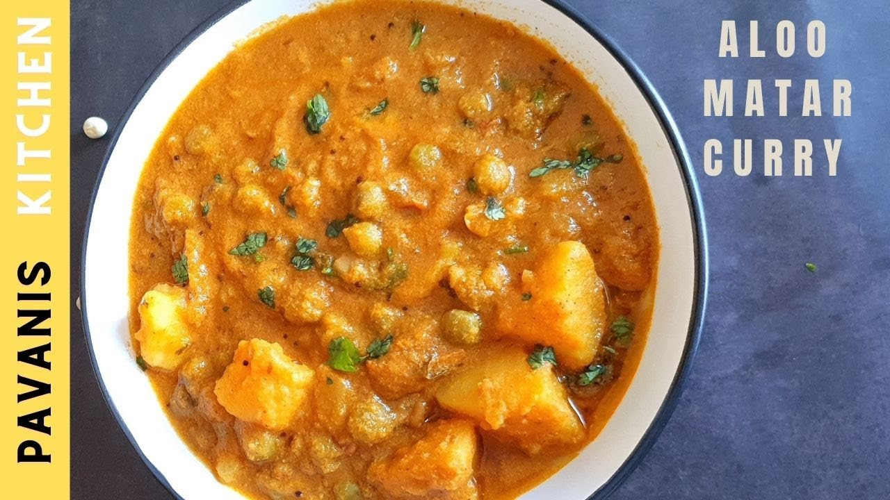 Aloo Matar Curry Recipe Potato Peas Curry Pavanis Kitchen