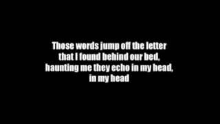 Hoobastank - The letter (Lyrics)