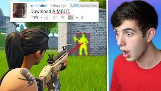 My Fortnite Comments dared me to do this.. (BAD IDEA)