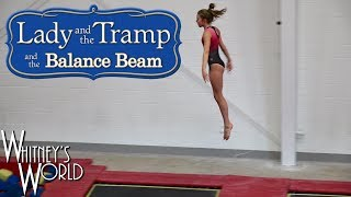 Lady and the Tramp and the Balance Beam | Whitney Bjerken Gymnastics