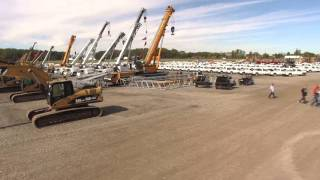 Drone video - truck and equipment auction in Columbus, OH - Ritchie Bros.