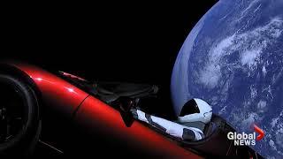 بالفيديو والصور- سيارة تسلا تسبح في الفضاء