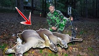 Bowhunting 3 Deer In ONE DAY!! - Epic Day of Hunting