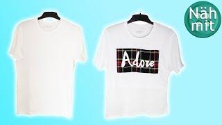 Nähen Upcycling Ideen Kleidung Part 1  T-Shirt DIY für Anfänger  Stoffreste verarbeiten  Näh mit mir