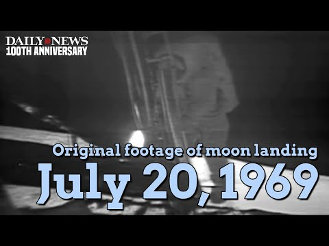 Original footage from Apollo 11 moon walk