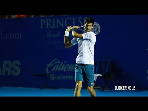 Novak Djokovic First Practice - ATP Acapulco 2017 (HD)