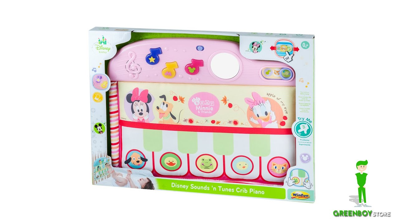 Disney Sound And Tunes Crib Piano Minnie And Friends 0 Months Pink