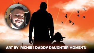ART BY RICHIE | DADDY DAUGHTER MOMENTS part 1 | #photoshop #silhouette #digitalpainting