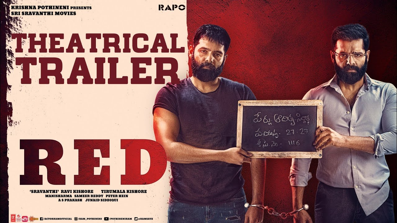 RED Movie Official Trailer 4K | Ram Pothineni | Nivetha | Malvika | Amritha | Tirumala Kishore