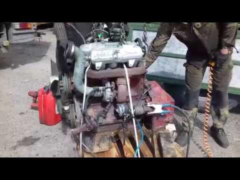 Запуск двигателя OM364A Mercedes 811D