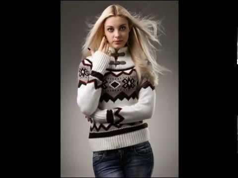 Вязаный шерстяной женский свитер-платье высокого качества .