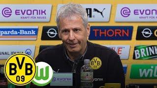 DOppel-PACO, Sieg und Spitzenreiter   PK mit Lucien Favre   BVB - VfL Wolfsburg 2:0