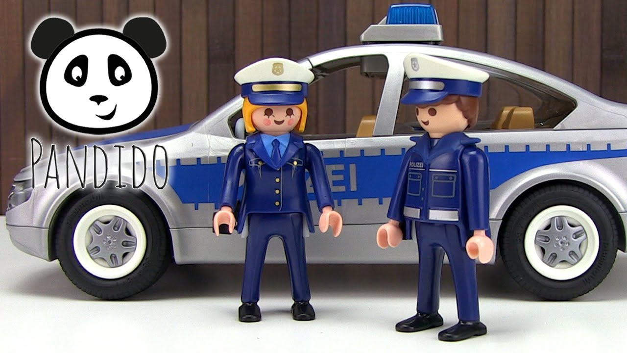 playmobil polizei polizeiauto spielzeug ausgepackt. Black Bedroom Furniture Sets. Home Design Ideas