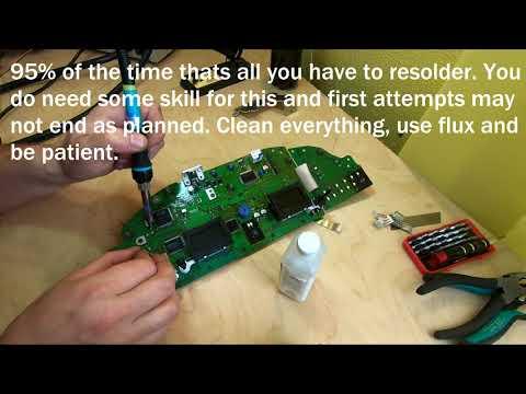 Volvo DIM Driver Information Module Dash Cluster actual repair